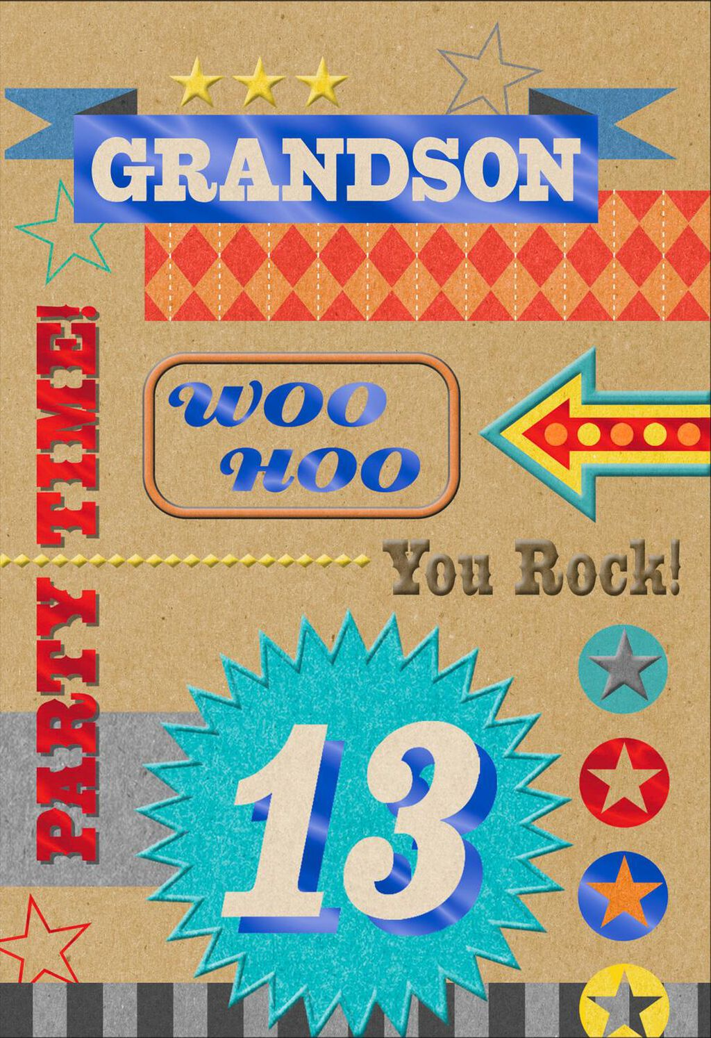 Party Time 13th Birthday Card For Grandson Greeting Cards Hallmark