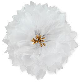 """White Tissue Paper Flower Bow, 5.75"""", , large"""