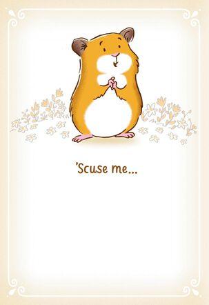 Huggable Hamster Encouragement Card