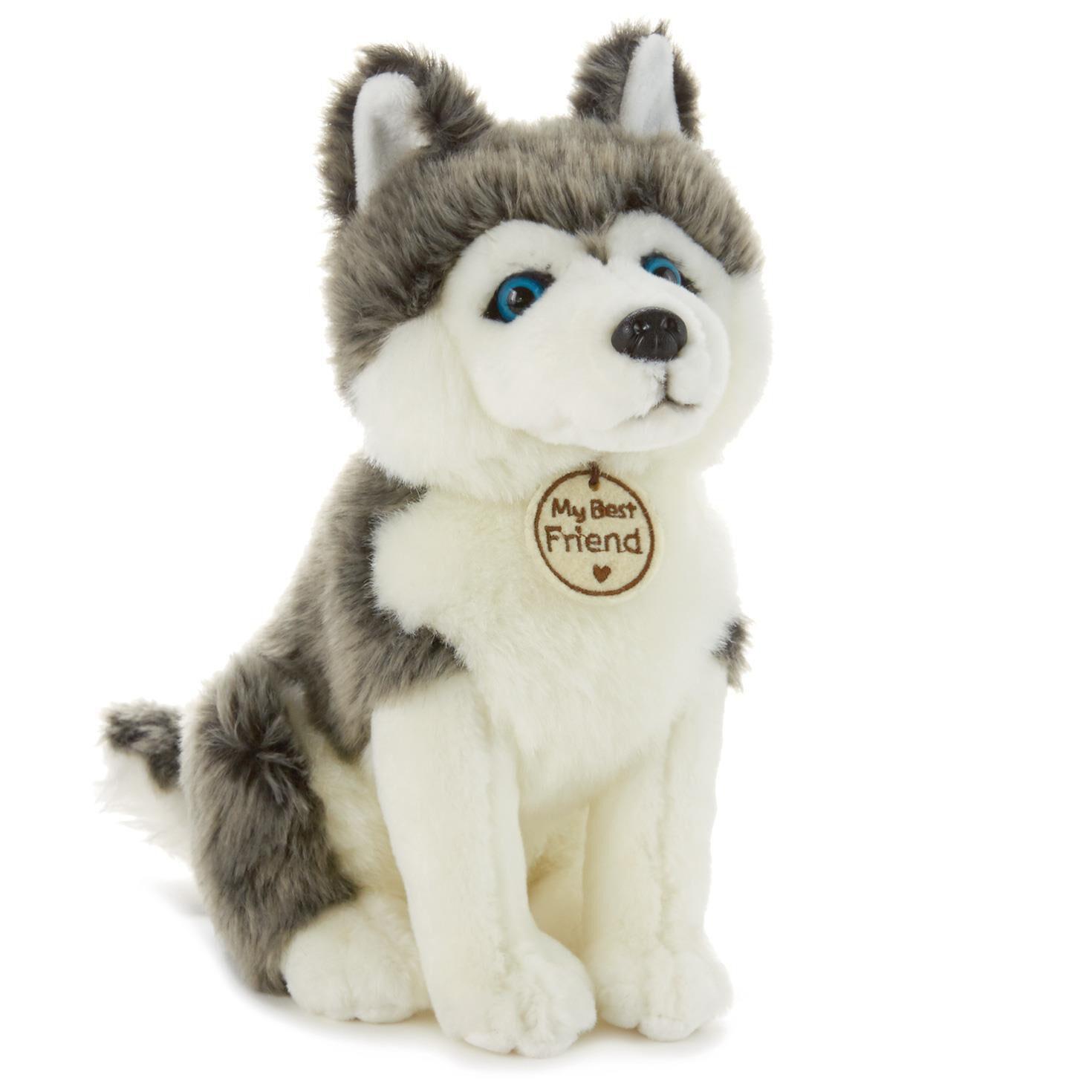 Gray And White Sled Dog Large Stuffed Animal Classic Stuffed