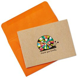 Colorful Snail Thank You Notes, Box of 10, , large