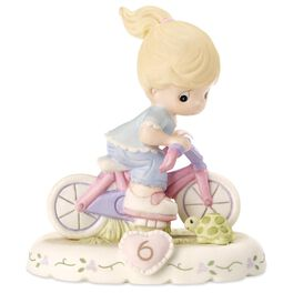 Precious Moments® Growing in Grace—Age 6 Blonde Girl Porcelain Figurine, , large