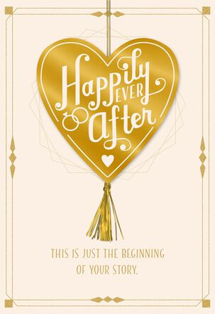 Just the Beginning of Your Story Wedding Card