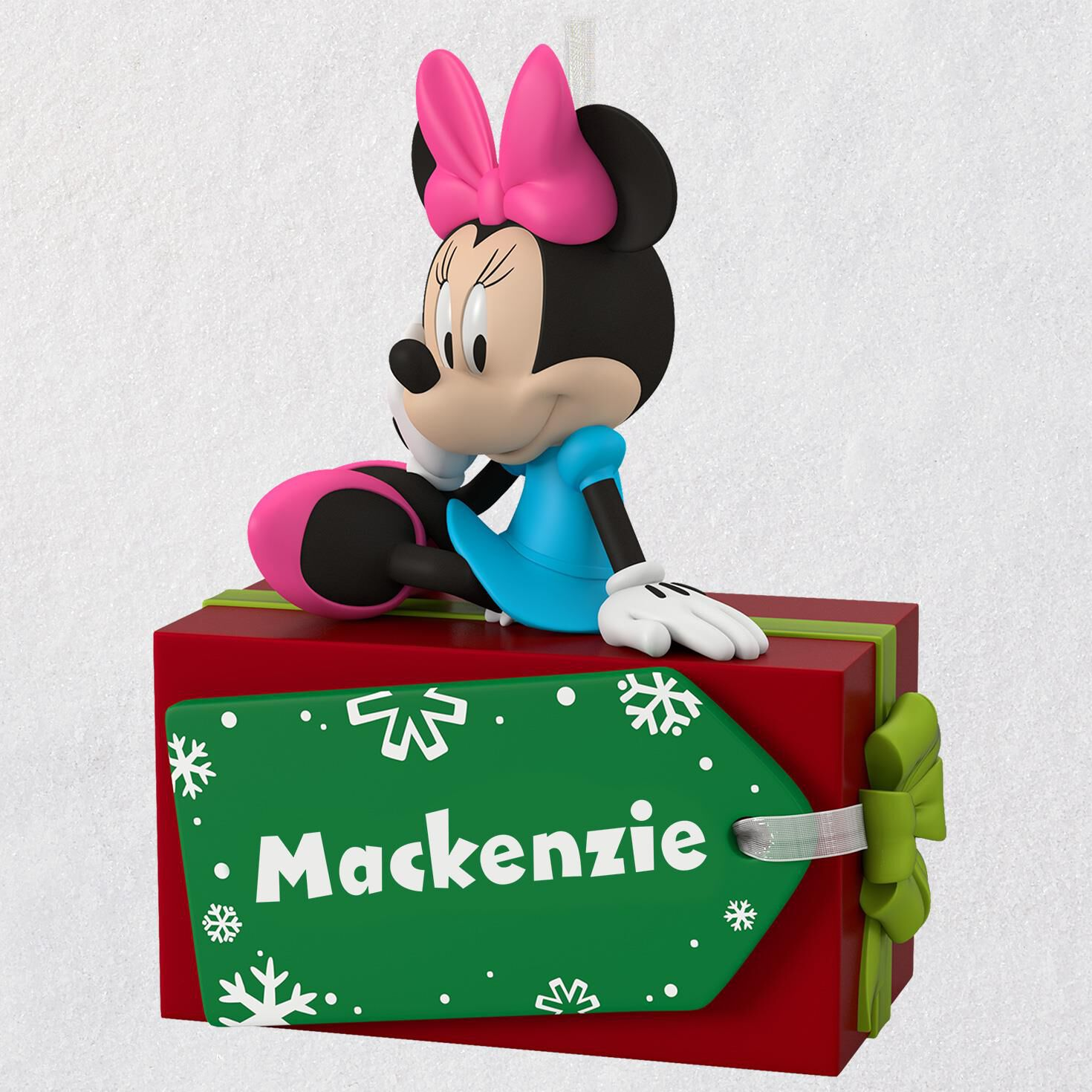 disney minnie mouse christmas present personalized ornament personalized ornaments hallmark