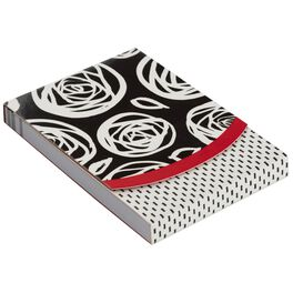 Black and White Roses Notepad, 75 Sheets, , large