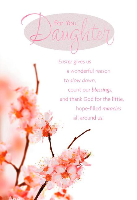 spring blossoms religious easter card for daughter greeting cards