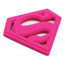 SUPERMAN™ Silicone Teether by Bumkins, Pink, , large