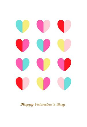 Happy Heart Day Valentine's Day Card