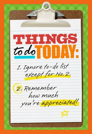 Clipboard Checklist Admin Professionals Day Card