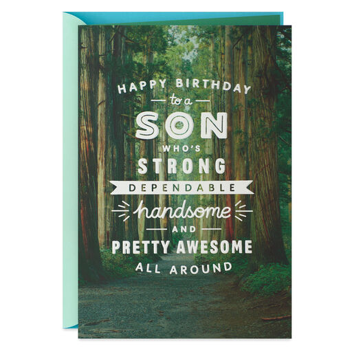 All Around Awesome Birthday Card For Son