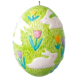 Bouncing Bunny Easter Egg Ornament, , large