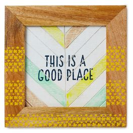 This is a Good Place Framed Wall Art, , large