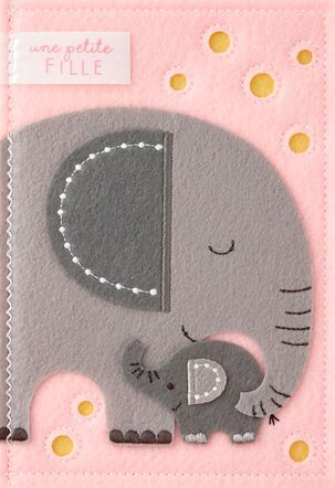 Lucky Little Girl French-Language New Baby Card