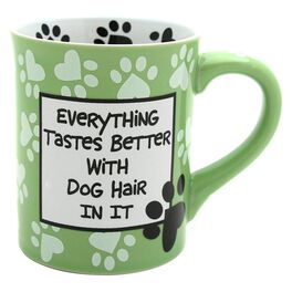 "Our Name is Mud ""Everything Tastes Better With Dog Hair"" Mug, 16 oz., , large"