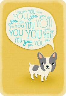 Little Dog Thinking of You Card,