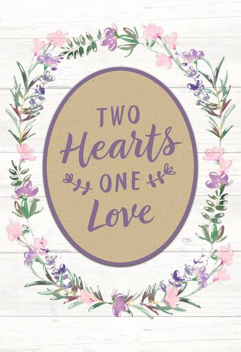 Two Hearts One Love Money Holder Wedding Card