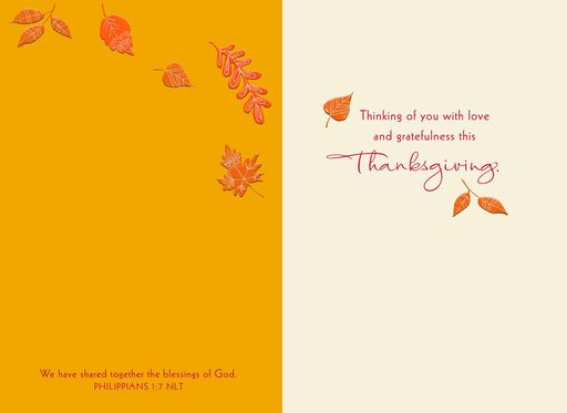 With Love and Gratefulness Religious Thanksgiving Card,