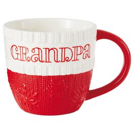 Grandpa Ceramic Holiday Mug, 10 oz., , large