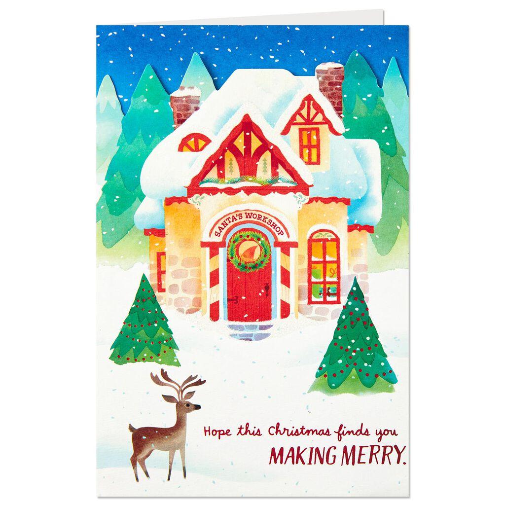 Santa\'s Workshop Pop Up Christmas Card - Greeting Cards - Hallmark