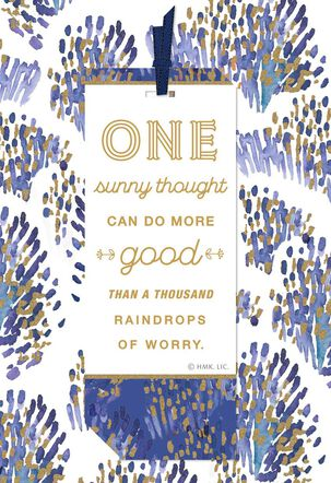 One Sunny Thought Encouragement Card With Removable Bookmark