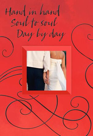 Couple Holding Hands Wedding Card