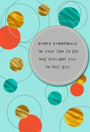 Colorful Circles Congratulations Card