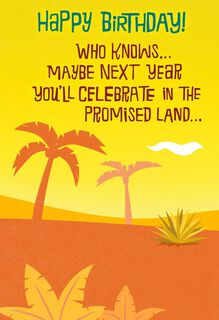 Promised Land Funny Birthday Card,