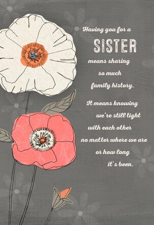 My Sister, My Friend Birthday Card
