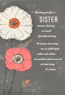 My Sister, My Friend Birthday Card,