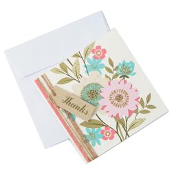 floral garden thank you notes pack of 8 large