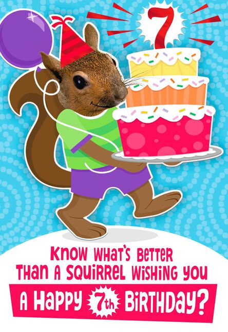 Squirrelly Nuts 7th Birthday Card Greeting Cards Hallmark