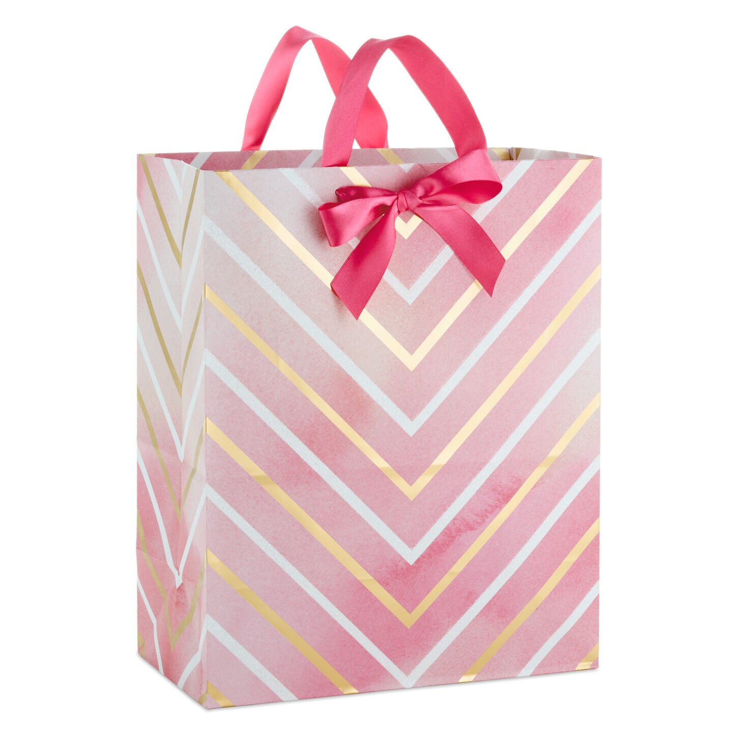 Hallmark 15 Extra Large Birthday Gift Bag Purple Flowers and Stripes, Birthday Girl Niece Granddaughter for Daughter Best Friend and More