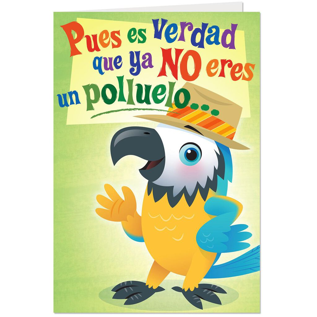 Spring Chicken Spanish Language Funny Pop Up Birthday Card