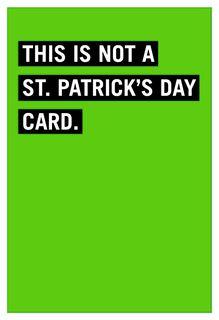Moldy Valentine Funny St. Patrick's Day Card,