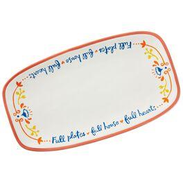 Full Plates, Full House, Full Hearts Ceramic Platter, , large