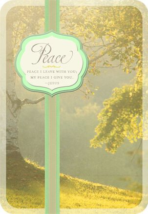 Peace and Sunlight Religious Sympathy Card
