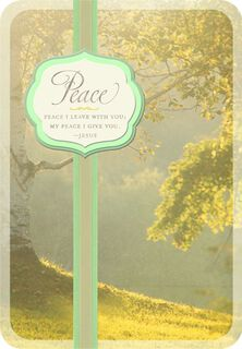 Peace and Sunlight Religious Sympathy Card,