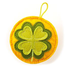 Recordable Four Leaf Clover Sound Charm Token, , large
