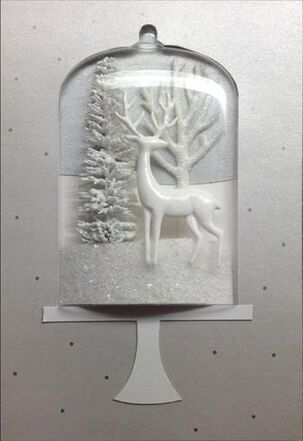 Winter Wonderland Snow Globe Christmas Card