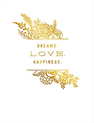 Dreams Love Happiness Wedding Card