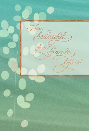 Flowers of Serenity Sympathy Card