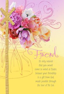 Your Friendship Is a Gift Religious Easter Card,