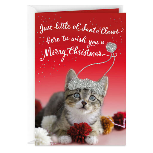 Meowy Christmas And Happy Mew Year Christmas Card From The Cat Greeting Cards Hallmark