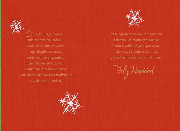 Snowy Window Of Memories Spanish Christmas Card For Mother Greeting Cards Hallmark