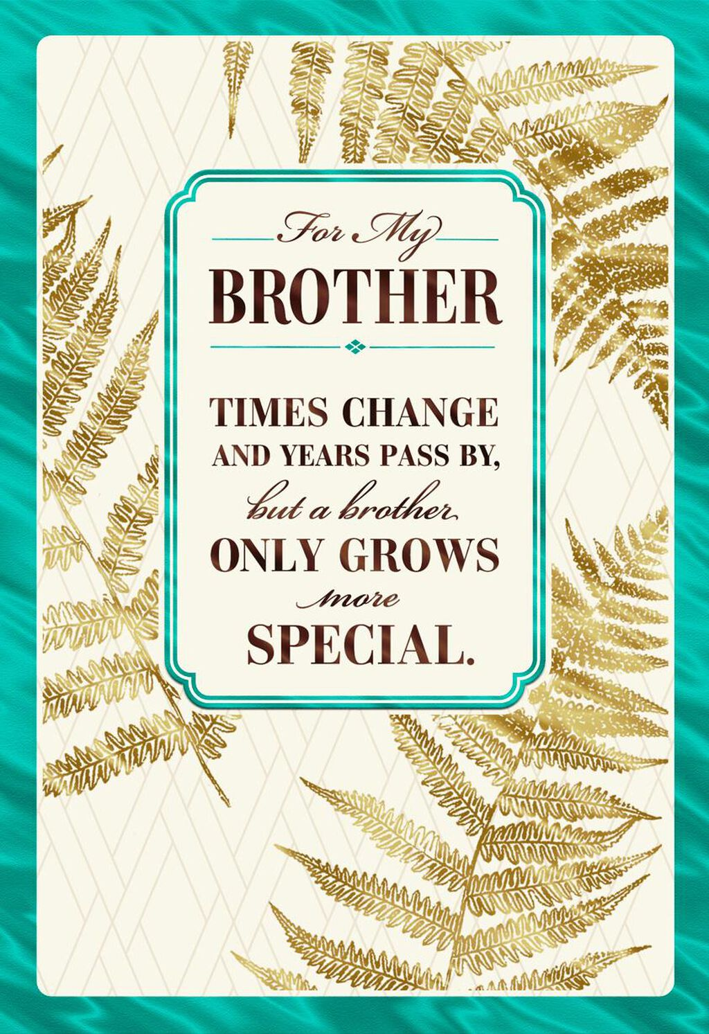 Love Grows Birthday Card For Brother