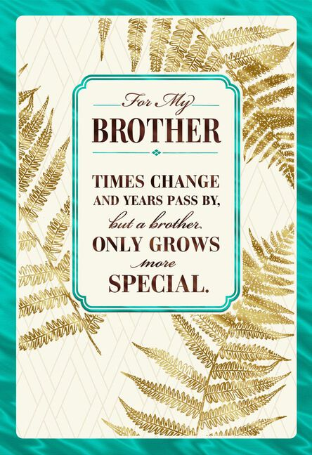 Love Grows Birthday Card For Brother Greeting Cards Hallmark