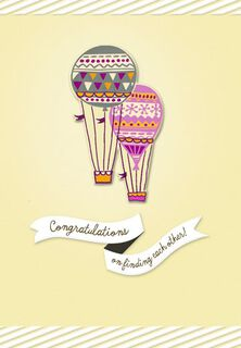 Hot Air Balloons Engagement Card,