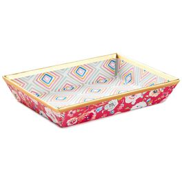 Haute Girls™ Geometric With Pink Floral Memo Tray, , large