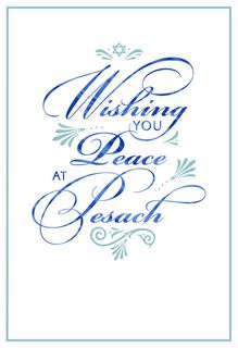 Wishing You Peace Passover Card,