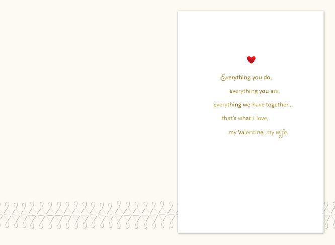 Always and Forever Wife Valentines Day Card  Greeting Cards